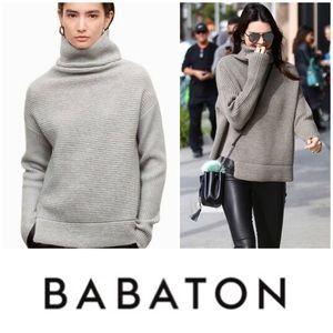 Babaton Mika Sweater in Heathered Light Grey